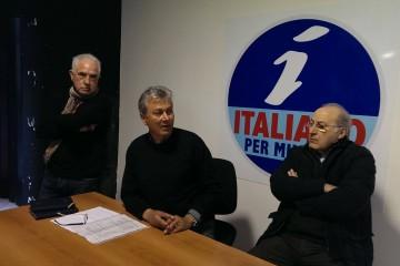 Da sinistra Saro Pergolizzi, Lorenzo Italiano, Franco Cusumano