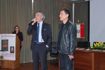 Il preside Stello Vadalà con Andrea De Carlo