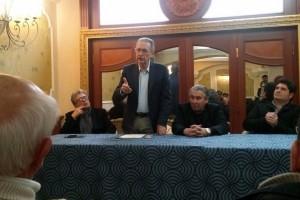 Pino Ragusi con l'onorevole Angelo Attaguile, responsabile regionale di Noi con Salvini