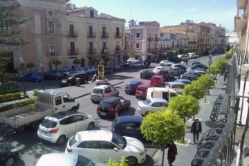 Traffico per le vie di Milazzo