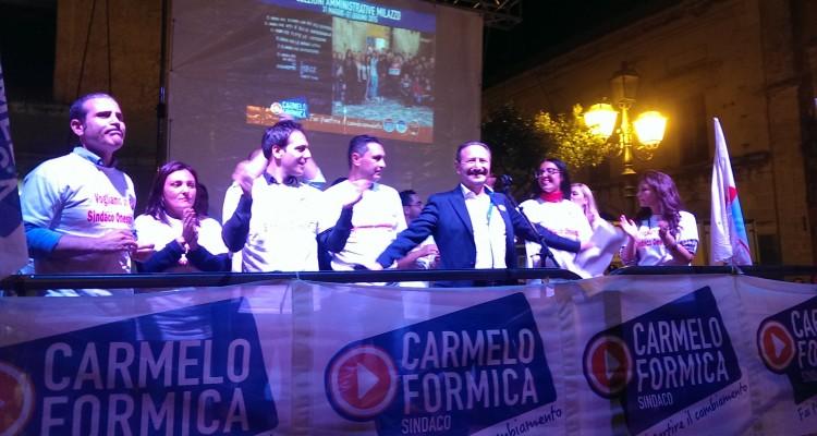Carmelo Formica e la sua squadra