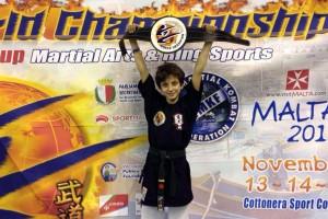 Ivan Simone, 11 anni, ai campionati di Malta