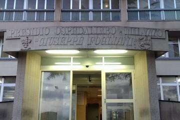 L'ingresso dell'ospedale di Milazzo (FOTO OGGI MILAZZO)