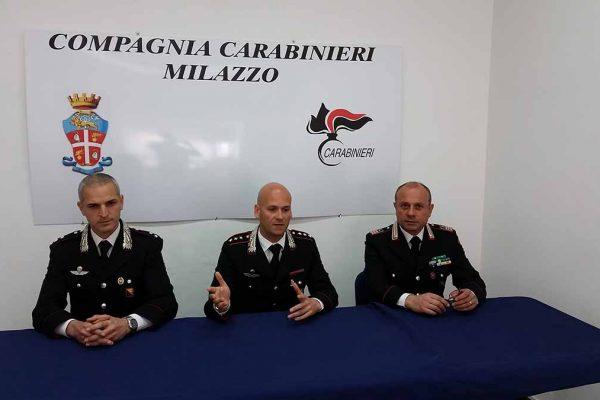 Da sinistra Cristian Letizia, Antonio Ruotolo e Rocco Romeo