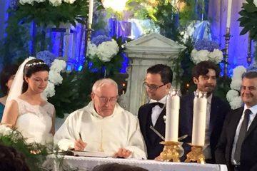 Gli sposi Francesco Coppolino e Annalisa De Gaetano
