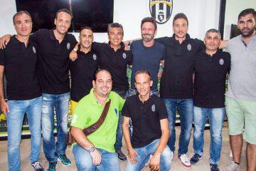 Toto Schillaci con il direttivo del Juventus Club Milazzo