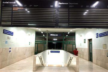Tabellone guasto alla stazione di Milazzo (FOTO OGGI MILAZZO)