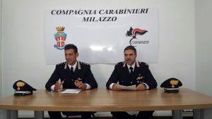 Da sinistra il tenente Valentino Adinolfi e il maresciallo Tommaso La Rosa