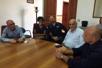 La presentazione della traversata al Comune di Milazzo