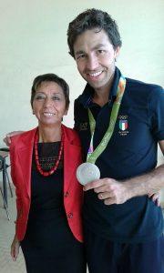 Daniele Sottile con la dirigente scolastica Elvira Rigoli
