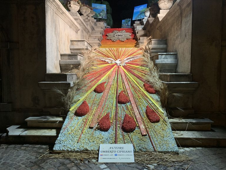 Villa Vaccarino, scalinata dedicata al Corpus Domini