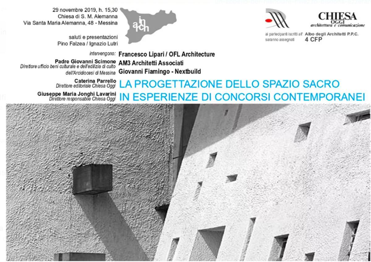 Albo Architetti Messina la progettazione dello spazio sacro: oggi a messina
